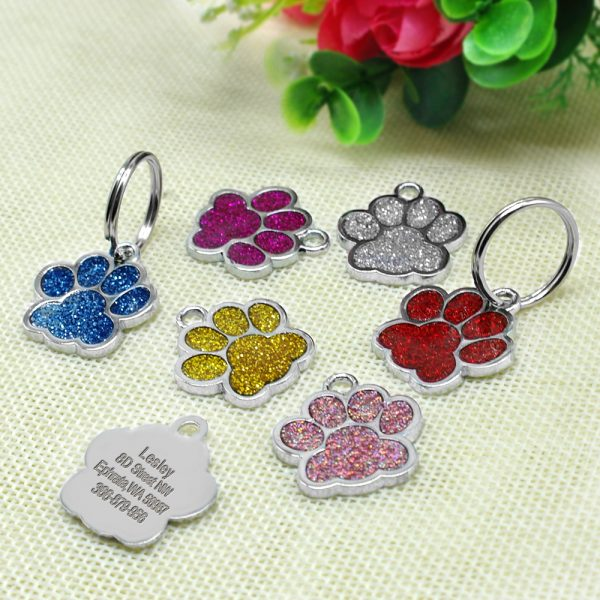 ... Accessories/Glitter Dog Paw Print ID Keychain. Sale!